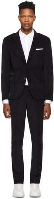 Neil Barrett Navy Corduroy Suit