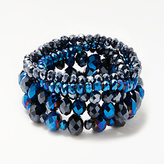 John Lewis Multi Stretch Bracelet, Blue