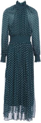 Zimmermann Shirred Polka-dot Crepon Midi Dress