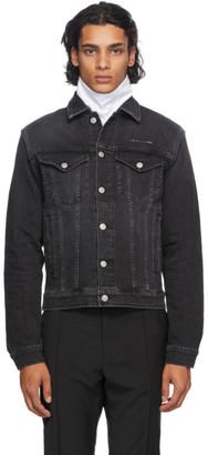 Alyx Black Denim Collection Stitching Jacket