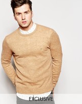 Farah Jumper In Lambswool Exclusive - Beige