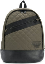 Armani Jeans quilted stripe backpack