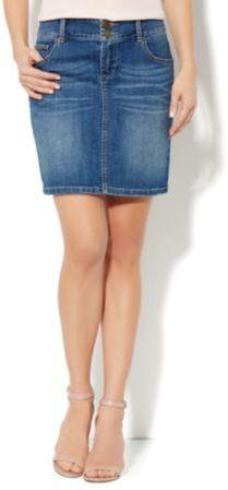 New York & Co. Denim Mini Skirt - Midtown Blue