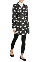 Burberry Heart Printed Silk Trench Coat with Wool