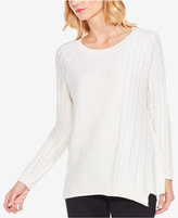 Vince Camuto Asymmetrical Cable-Knit Sweater