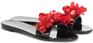 Simone Rocha Embellished rubber slides