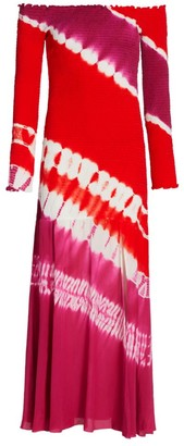 Altuzarra Shibuya Tie-Dye Silk Dress