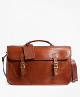 Brooks Brothers J.W. Hulme Leather Document Briefcase