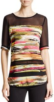 KUT from the Kloth Mason Abstract Print Top