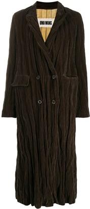 UMA WANG Oversized Double-Breasted Coat