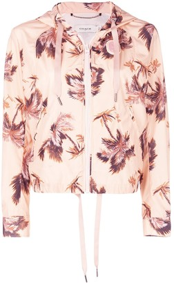 Coach floral print hooded jacket