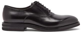 Brunello Cucinelli Leather Oxford Shoes - Mens - Black
