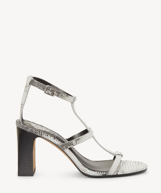 Vince Camuto Women's Balindah In Color: Black/white Shoes Size 5 LIZARD PRINT From Sole Society
