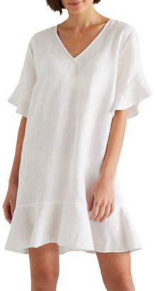 Seed Heritage Linen Flutter Sleeve Dress
