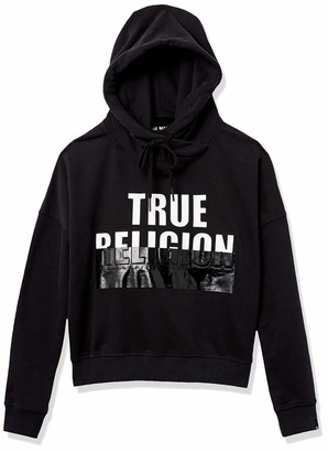 True Religion Women's Graphic Logo Long Sleeve Hoodie