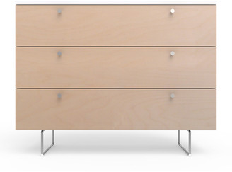 "Spot On Square 45"" Alto Dresser, White/Birch"