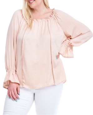 Fever Plus Size Embroidered Blouse