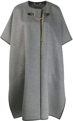 Salvatore Ferragamo Short-Sleeved Cape Coat