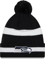 New Era Seattle Seahawks 2 Tone Pom Chase Knit Hat