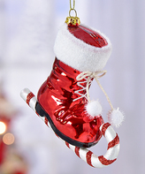 Candy Cane Skating Boot Ornament