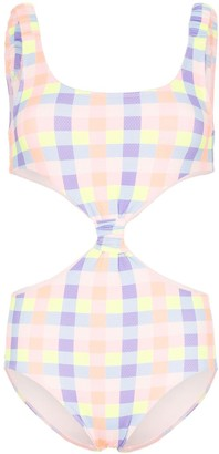 Paper London Barbuda cut-out gingham swimsuit