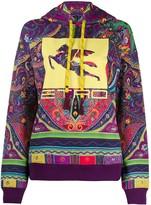 Etro paisley-print logo hoodie