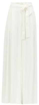 Ann Demeulemeester Belted Cotton-blend Maxi Skirt - Womens - White