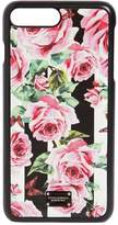 Dolce & Gabbana Rose Printed Leather Iphone 7 Plus Cover