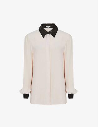 Reiss Delaney embellished chiffon shirt