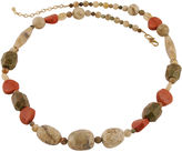 Barse BIJOUX BAR Art Smith by Multi-Gemstone Brass Necklace