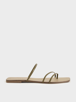 Charles & Keith Strappy Thong Sandals