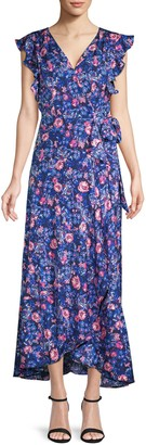 Ava & Aiden Floral Wrap-Front Dress