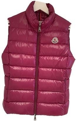 Moncler Sleeveless Purple Coat for Women