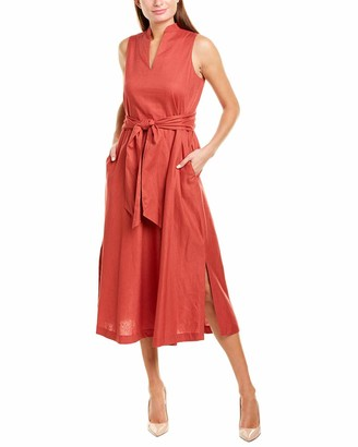 Anne Klein Women's Linen MIDI Dress
