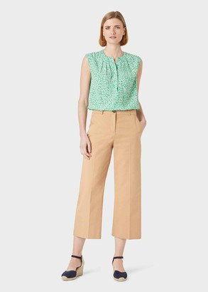 Hobbs Marlena Cotton Blend Wide Leg Chinos With Stretch