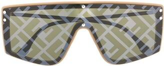 Fendi Eyewear Monogram Print Sunglasses