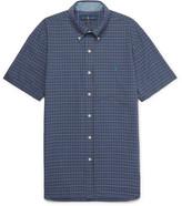 Polo Ralph Lauren Slim-fit Button-down Collar Checked Cotton Shirt - Blue