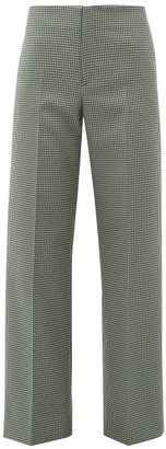 Maison Margiela Houndstooth Flared Trousers - Womens - Grey