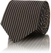 Prada Men's Curved-Dot Woven Silk Necktie