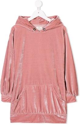 Andorine Velvet Hooded Dress