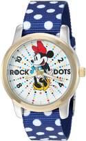 Disney Women's 'Minnie Mouse' Quartz Metal and Nylon Automatic Watch, Color: (Model: W002885)