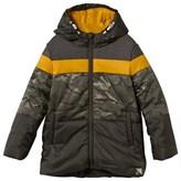 Ikks Multi Camo Hooded Puffer Coat