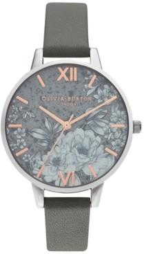 Olivia Burton Women's Terrazzo Floral Gray Strap Watch 34mm