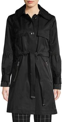 Karl Lagerfeld Paris Classic Cotton Blend Trench Coat
