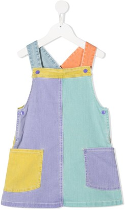 Stella McCartney Kids Colour Block Denim Dress