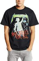 Live Nation Men's Metallica - And Justice for All Crew Neck Short Sleeve T-Shirt