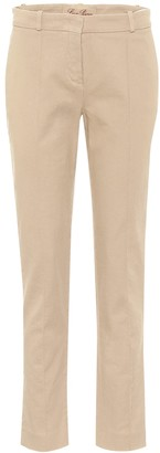 Loro Piana Derk high-rise stretch-cotton pants