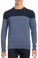 Black Brown 1826 Cashmere Colourblock Crew Neck Sweater