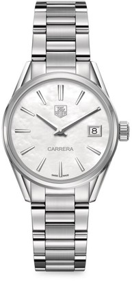 Tag Heuer Carrera 32MM Stainless Steel & Mother-of-Pearl Quartz Bracelet Watch