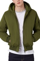 Topman Men's Hooded Bomber Jacket